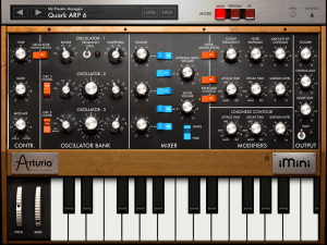 The Arturia iMini brings the Classic Bob Moog Sound to the iPad