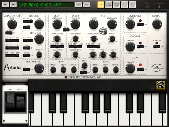 Arturia iSEM iPad Screenshot