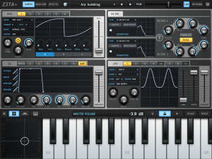 Z3TA+ is a Cakewalk among iPad Synth Apps