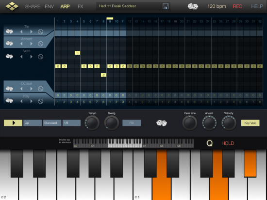 microTera Arpeggiator Screenshot