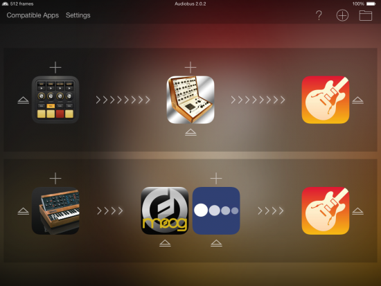 Audiobus 2 Multi-Routing Screenshot