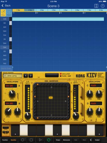 Korg Gadget Kiev Screenshot