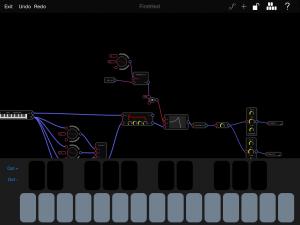 Audulus with Virtual Keyboard