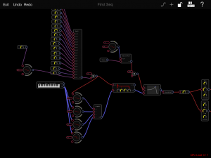 Audulus with the sequencer module