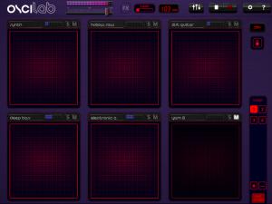 Oscilab's X-Y Screen